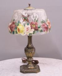 Pairpoint puffy lamp with hummingbirds c1920