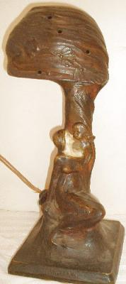 Bronze figural lamp The Dream