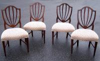 Early American Federal Shield back dining chairs