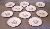 Tiffany company grosvenor porcelain luncheon plates