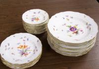 Collection of Meissen porcelain plates