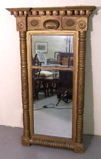 Antique Federal Gold Leaf Mirror