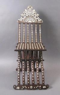 19th century Syrian folding scribes chair c1850