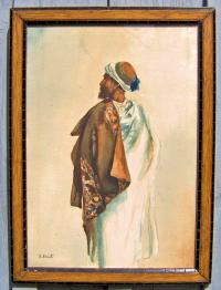 Rudolf Ernst Orientalist Watercolor painting c1910