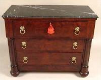 American Empire Period marble top Commode c1840