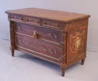 Edwardian Painted Walnut Commode C1910