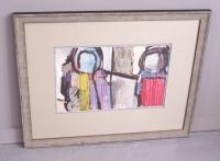 Rolph Scarlett expressionistic abstract mixed media painting
