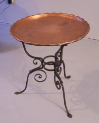 Arts and Crafts Movement hand wrought iron base table