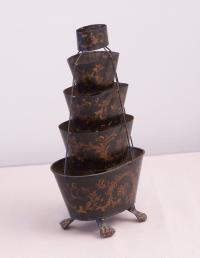 French 19th c.tiered tole planter c1880