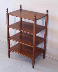 Regency style 4 tier mahogany side table with inlay c1910