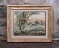 Zvi Raphaeli Jerusalem Hills oil painting on canvas