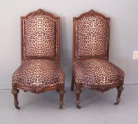 American Renaissance Revival rosewood side chairs c1880