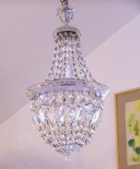 Empire style vintage crystal hallway chandelier