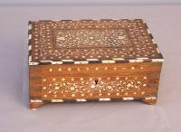 Middle Eastern 19th c bone and ivory travel box