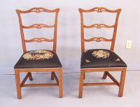 Connecticut 18th c. Country Chippendale dining side chairs
