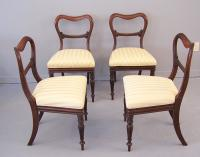 Set of 4 English William IV Rosewood Side Chairs