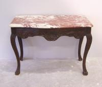 18th c French Regence console table with marble top