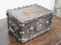 18th century French iron Bauche Subete strongbox