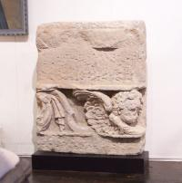17th century Italian limestone carving of an angle