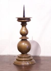 Renaissance 17th century German bronze single candlestick
