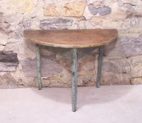 Early country French half round table c1800