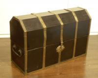 C1800 English brass and rosewood stationery box