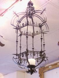 Early to mid 19th century French iron ceiling fixture