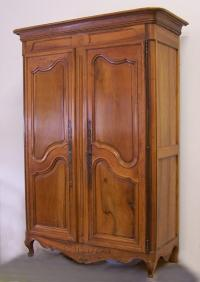 French Loire valley walnut double door armoire c 1760