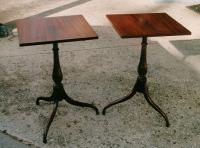 Fine Nathan Margolis inlaid candlestands