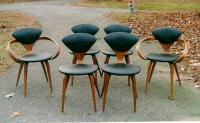 Set of six 1950s Modern chairs by Plycraft