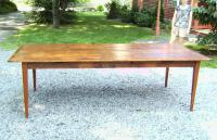 Country kitchen pumpkin pine wide board dining table