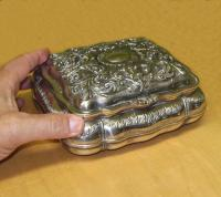 Silver plated jewelry dresser box c1900