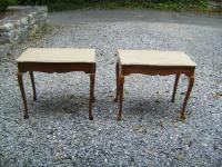 Pair Italian marble top end tables c1920