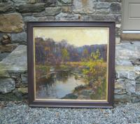 Peggy N Root Old Lyme landscape painting c1991