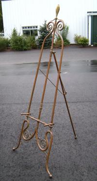 Fine quality solid brass easel for paintings