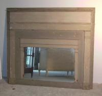 Trumeau gray fire place surround with mirror c1890