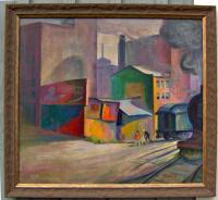 P R  Pleasant Ray McIntosh WPA painting c1927