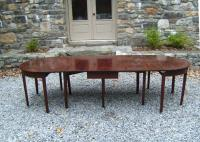 American Chippendale mahogany dining table c1780
