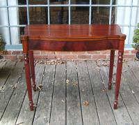 Period American Sheraton mahogany card game table c1835