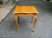 French fruitwood card table with drawer c1900