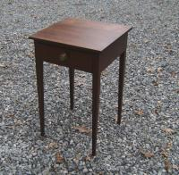Cherry stand with drawer straight tapered legs c1810