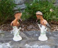 Pair of Italian porcelain exotic birds