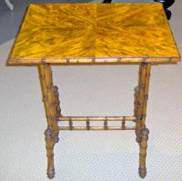 American Aesthetic Movement faux bamboo side table 1870