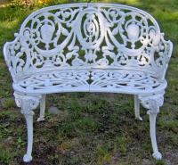 Cast iron garden bench in the Adamesque style c1880