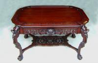 Kimbel Cabus mahogany library center table NY 1863 to 1882