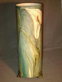 Whlets Limoges porcelain vase with floral design c1900