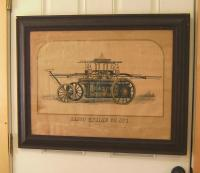 Casco Engine Co No 1 fire engine print c Portland Maine c1850