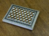 American Victorian ivory inlaid calling card case c1875