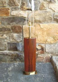 Mid Century Modern rosewood and brass Laurel lamp c1960