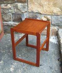 Koefoeds Hornslet Danish modern teak end table c1960